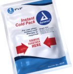Instant ice packs are great to have for emergencies.  Simple squeeze and they are instantly cold