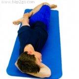Quadricep stretch in side lying