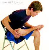 This is a great way to stretch your glutes.  Approved use by www.hep2go.com