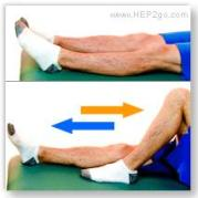 Heel slides are a good arthritis treatment exercise to improve movement of the knee