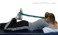 Here is a simple way to stretch your quads lying dow