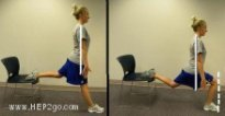Squats are a great way to reduce knee pain.  These chair squats are a great variation on traditional squats.  Approved use by www.hep2go.com