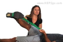 Belt Stretch for ITB tightness.  Approved use by www.hep2go.com