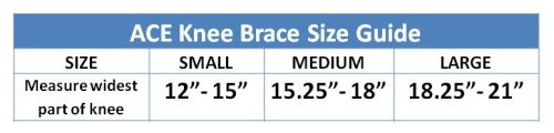 Ace knee brace size guide