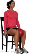 Knee cap strengthening exercises help to reduce the risk of repeated knee cap dislocations.  Approved use by www.HEP2go.com