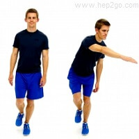 Standing on one leg is a great way to improve you balance and prevent knee injuries.  Approved use by www.hep2go co