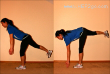 Knee rehab exercises for balance.  This is a great way to imrove balance and knee stability. Approved use by www.hep2go.com
