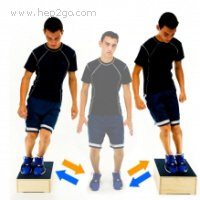 The box jump is a great way to improve knee stability