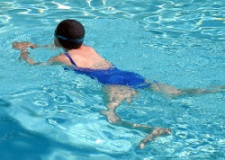Pes Anserine Bursitis is caused by repetitive friction at the knee from activities such as breaststroke swimming