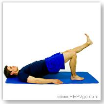 Bridging is a great knee rehab exercis.  Approved use by HEP2go.com