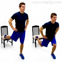 Squats are a great way to reduce knee pain.  Approved use by www.hep2go.com