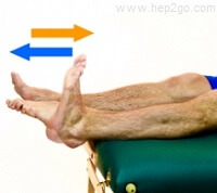 Foot pumps are a great knee replacement exercise to start with after surgery.  Approved use www.hep2go.com