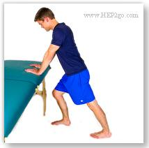 Calf Exercises should only be started once you have been given the go-ahead from your doctor or physical therapist following a pulled calf muscle.  Approved use by www.HEP2go.com