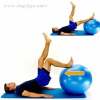 Single leg hamstring curls with bridging - an advanced hamstring strengthening exercise
