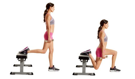 Knee Rehab Exercises: Squats are a great way to reduce knee pain.  These chair squats are a great variation on traditional squats.