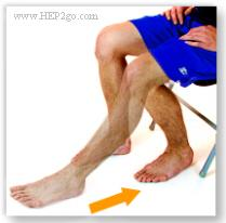 Foot slides is a good way to increase knee flexion after a torn meniscus. Approved use by www.hep2go.com