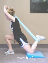 Kneeling quadriceps stretch