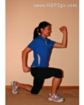 Split Squats.  Approved use by www.hep2go.com
