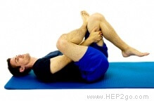 Glute stretches can be done in number of different ways.  Approved use by www.hep2go.com