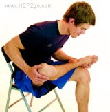 Knee stretches.  Approved use by www.HEP2go.com