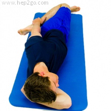 Quadricep stretch in side lying