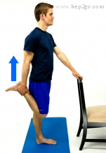 Standing quadricep stretch
