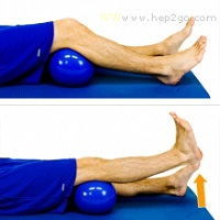 Short arcs are a good way to strengthen the quads as part of meniscus tear treatment. Approved use by www.hep2go.com