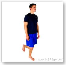 One Leg Standing: Knee strengthening exercise. Approved Use by HEP2go.com