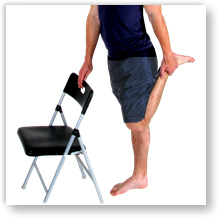 Stretches are a vital part of Housemaids knee treatment.  Approved use by www.hep2go.co