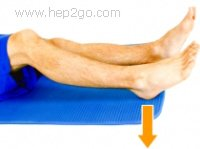 Hamstring Sets - a great way to strengthen the hamstrings without needing to move the leg