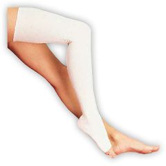 Tubgrip compression bandage should be worn from the top of the thigh to the foot and should be worn double thickness