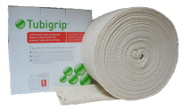 Tubigrip compression bandage can be used to reduce pain and swelling and provide some support to a calf muscle strain