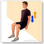 Muscle strenghtening is an important part of the recovery process with Jumpers Knee