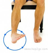 Ankle circles can be done lying down or sitting up after a knee replacement