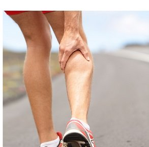 Calf muscle pain is often caused by cramping in the muscle