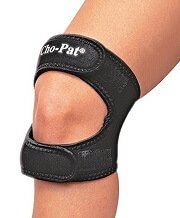 Knee straps help take the tension and friction off the Iliotibial Ban