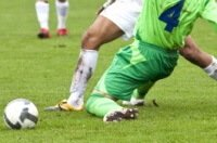 Knee injuries are common in sports.