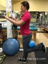 Ball squeezes are a great way to activate the hamstrings and improve the control around the knee