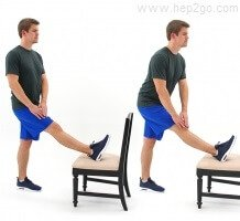 Knee exercises help improve strength and flexibility.  Approved use by www.hep2go.com