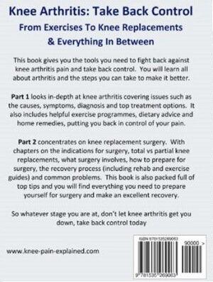 Back cover of Knee Arthritis: Take Back Control
