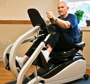Exercise is important during knee replacement recovery - cycling is a good way to improve knee movement and strength without aggravating your new knee