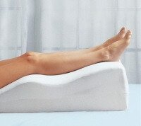 Elevating the leg helps to reduce swelling following a dislocated patella
