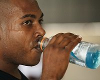 It is really important to keep adequately hydrated, especially when exercising to reduce the risk of calf cramps