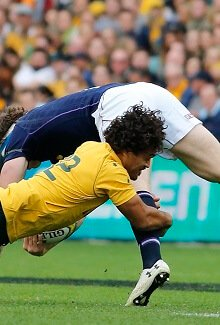 A tackle from the front can force the leg backwards causing a hyperextended knee injury