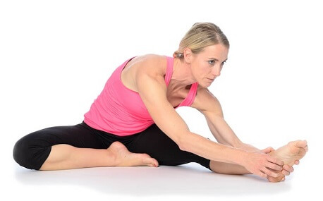 Hamstring Stretches are most effective when the knee is slightly bent so that the stretch targets the muscle belly rather than the tendon