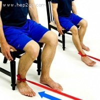 Theraband is a great tool to use with hamstring strengthening exercises