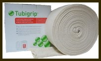 Tubigrip compression bandage provides support and reduces swelling