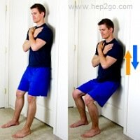 Knee strengthening exercises.  Approved use by www.HEP2go.com